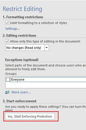 How to Change Permission of a Word Document