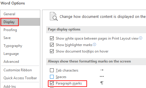 How to Hide or Show Paragraph Marks in Microsoft Word