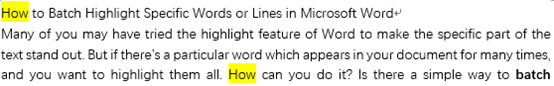 How to Batch Highlight Specific Words or Lines in Microsoft Word