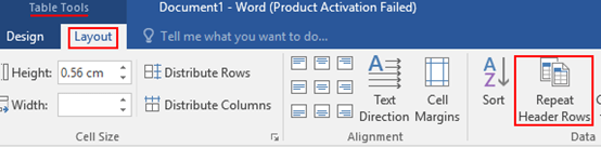How to Keep Table Headers on Each Page in Word