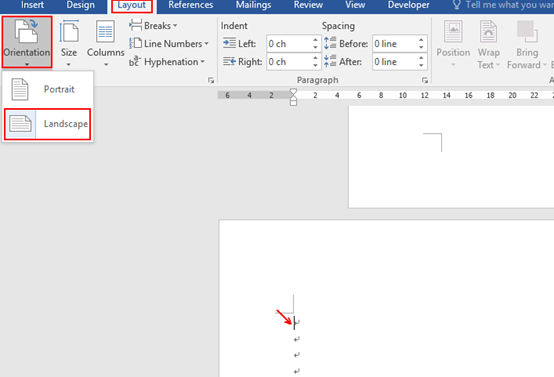 How to Change the Orientation of a Single Page in Word