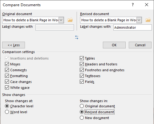 How to Compare Two Documents in Word Side-by-Side