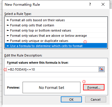 2 Ways to Add Auto Reminders on Due Date in Excel