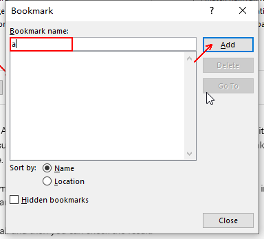 How to Add a Bookmark to Mark the Specific Place in Word Document