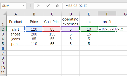 How to Enter a Formula in Excel