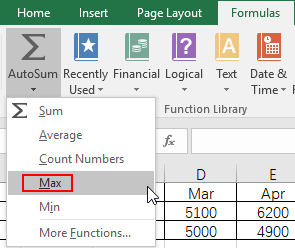How to Find the Maximum or Minimum Value in Excel