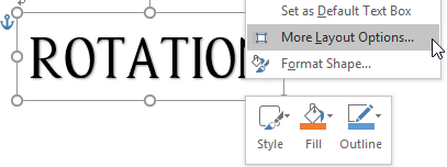 How to Rotate the Text in Word 2016