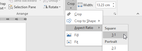 How to Crop Pictures in Word 2016