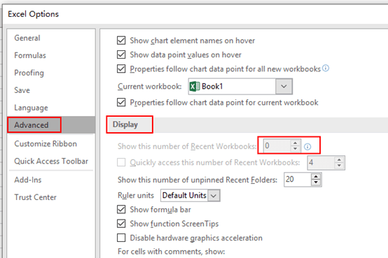 How to Set Not to Display Recently Opened Files in Microsoft Word