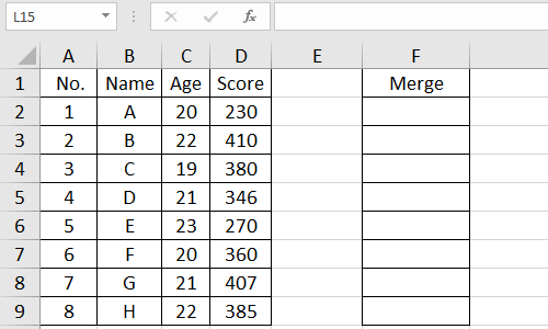 How to Merge the Content in Different Cells Using Excel Function