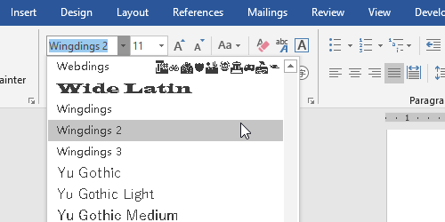 How to Quick Insert a Box with Tick or Cross in Microsoft Word