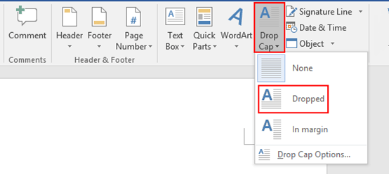 How to Add a Drop Cap in Microsoft Word