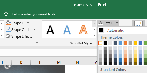How to Add Text on Top of A picture in Excel
