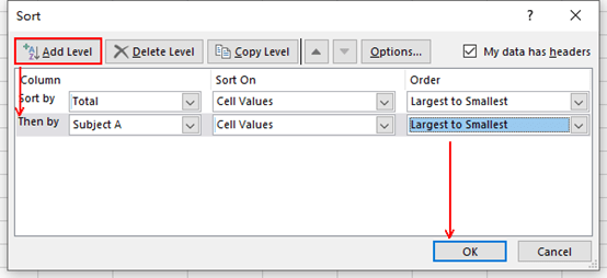 How to Sort Data by Multiple Columns in Microsoft Excel