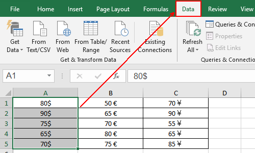 How to Process Data with Units Using Functions in Excel