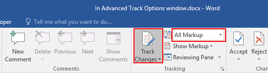 How to Use Track Changes in Word Document to Record the Modification