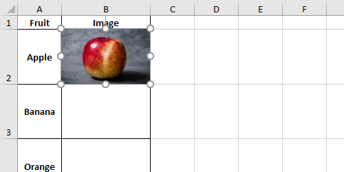 How to Lock Inserted Pictures to Excel Cells