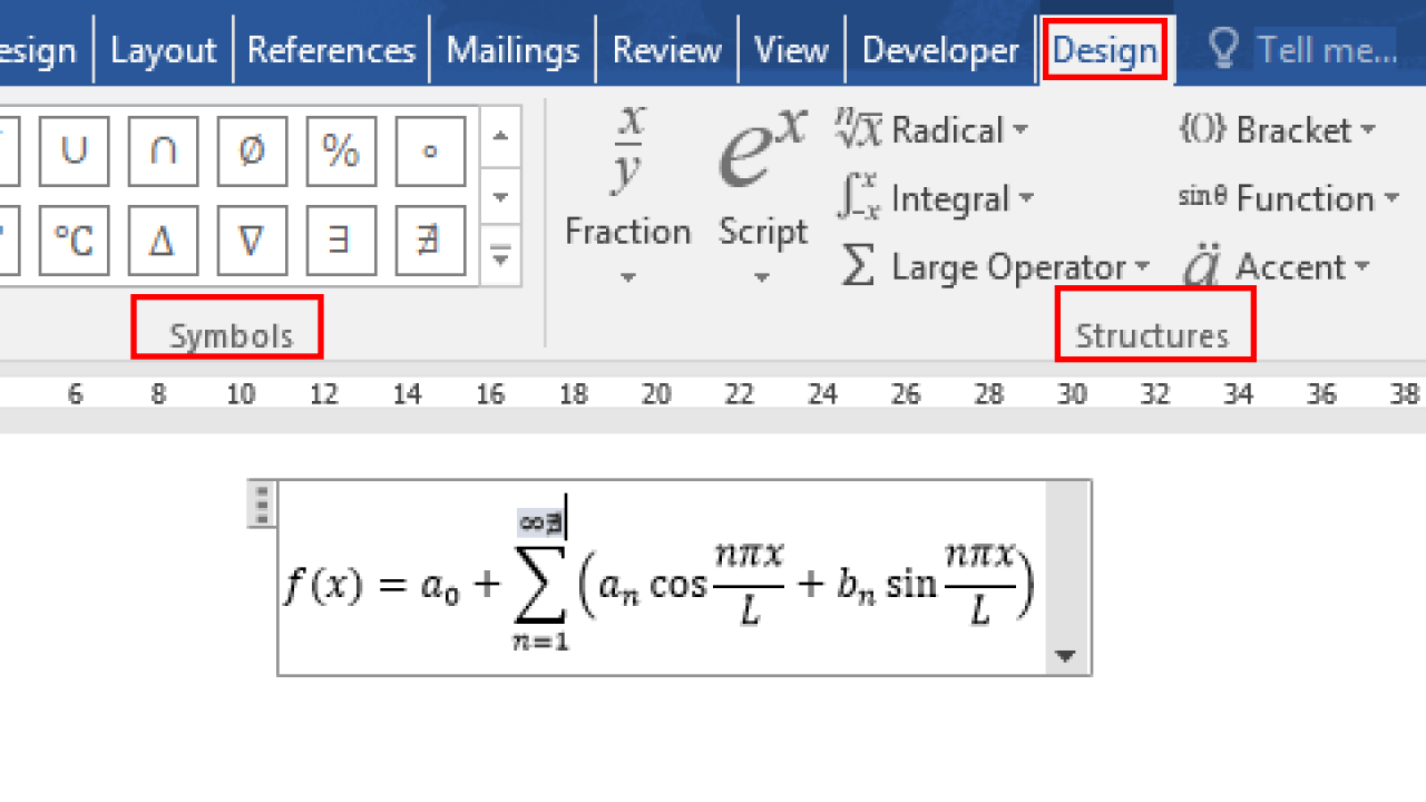 How to Insert or Write Math Equation in Microsoft Word - My