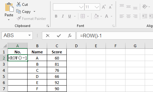 How to Create an Uninterrupted Sequence in Microsoft Excel