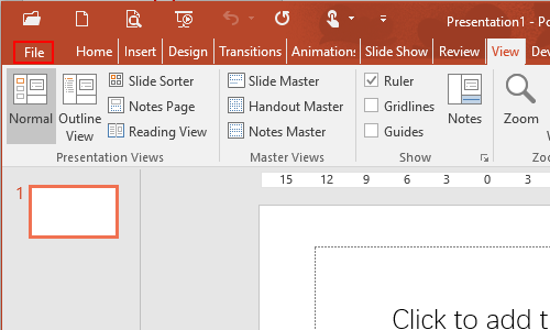 How to Show or Hide Ruler in PowerPoint