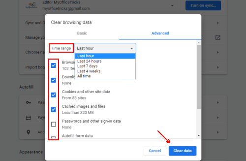 How to Clear the Browsing Data in Google Chrome
