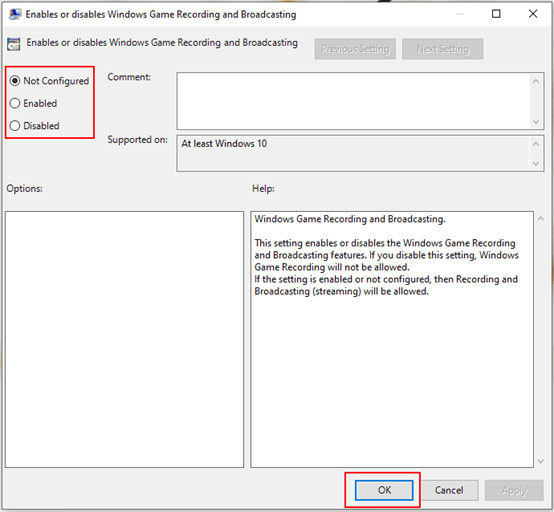 How to Enable or Disable Game Recording and Broadcasting on Windows 10