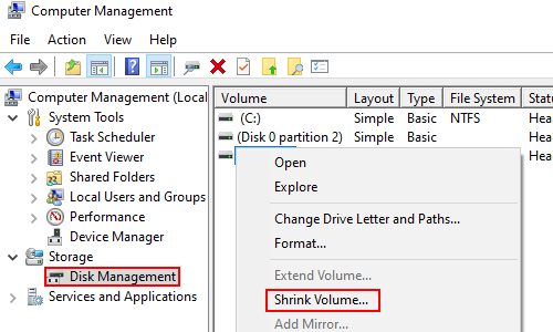 How to Assign Free Space to Other Partitions or Create a New One