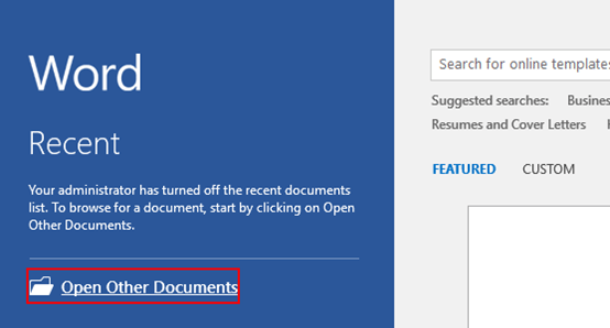 How to Open a Word Document as Copy or Read-Only