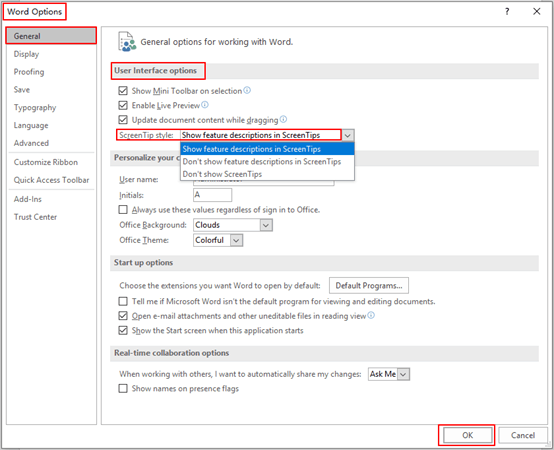 How to Show or Hide Feature Descriptions in ScreenTips – Microsoft Word