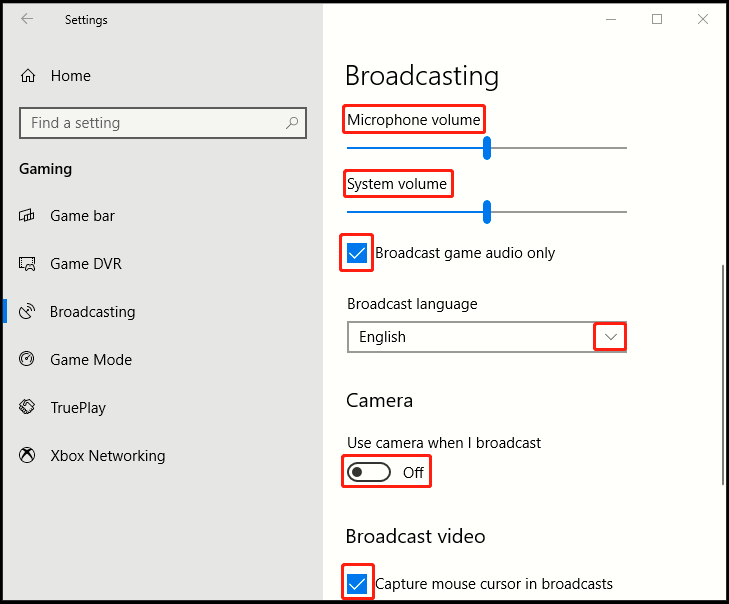 How to Customize Broadcasting in Windows 10
