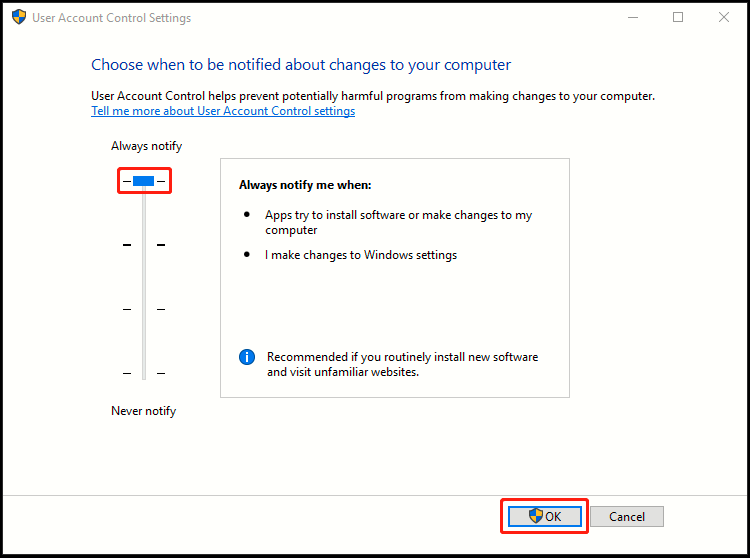 How to Change UAC Settings in Windows 10