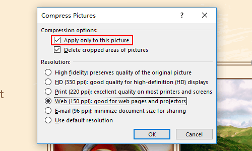 How to Compress the Pictures Inserted in PowerPoint Slides