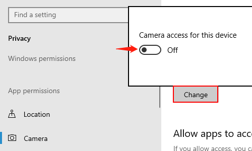 How to Enable or Disable the Camera in Windows 10