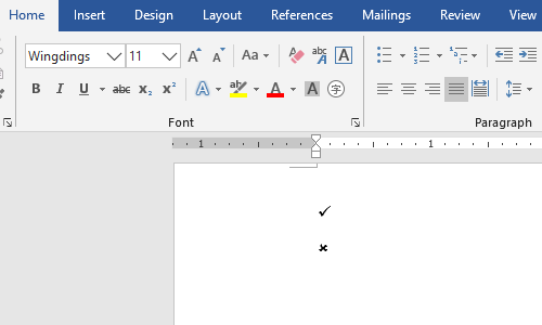 How to Insert a Tick or Cross Symbol in Microsoft Word