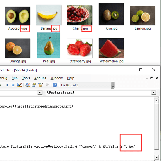 Excel VBA:  Inserting Photos as Comment in Bulk