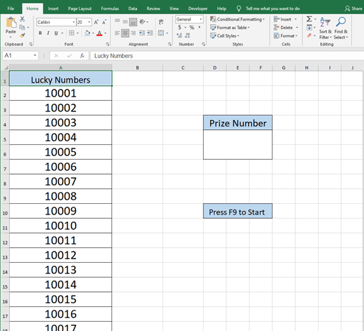 How To Create A Random Drawing In Excel