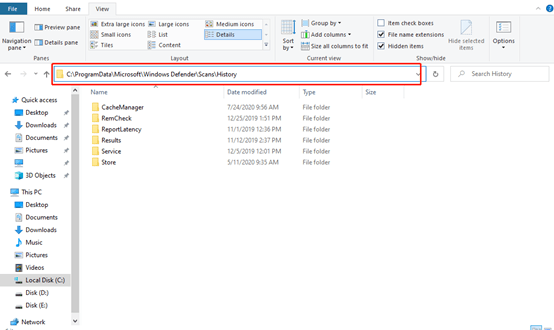 How To Clear Windows Security Center Protection History