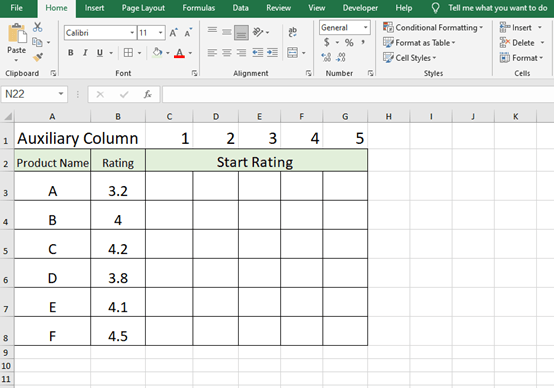 Create A Five-Star Rating System In Microsoft Excel