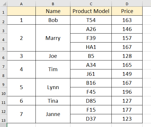 How To Autofill Number Serial In Merged Cells In Excel—Simple Tutorial