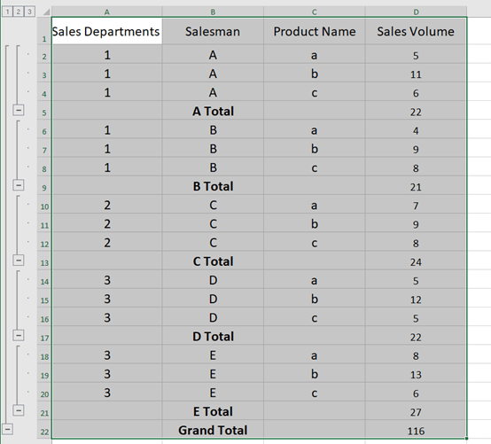 How To Use The Subtotal Function In Microsoft Excel