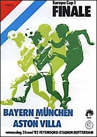Aston Villa v Bayern Munich 1982 Final Programme