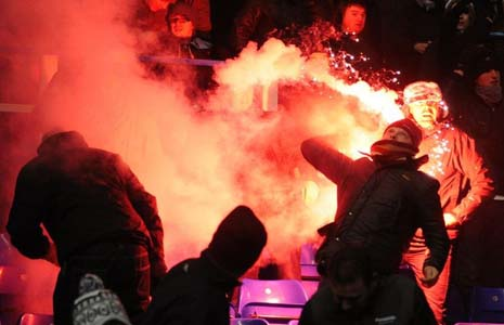 One tip to avoid arrest in the first place is try not to throw flares...which can understandably be tempting at times, when faced with a line of disrespectful idiots.