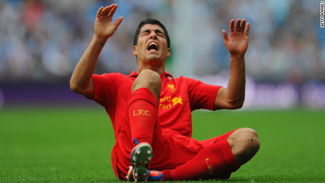 Luis Suarez scream