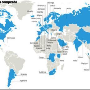 World Map of Shareholders