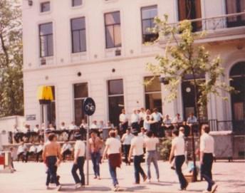 Villa fans meet the Police - Rotterdam 1982
