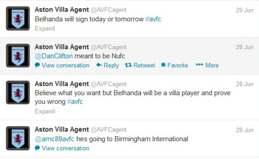 Belhanda Aston Villa ITK Rubbish