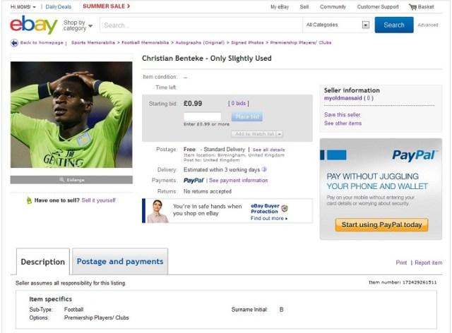 Benteke Ebay 1