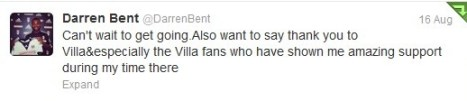darren bent tweet