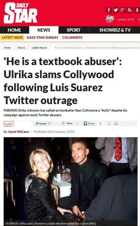 Stan Collymore racism by the Sun