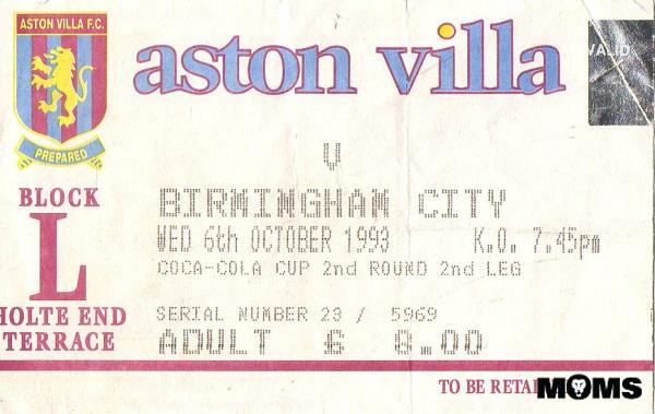 villa blues ticket 1993